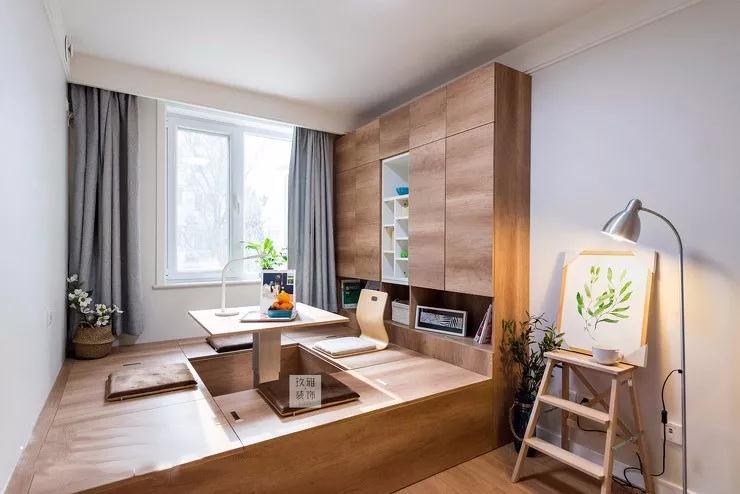 115平北欧贝博手机app,厨房+卡座餐厅仅占14㎡,榻榻米卧室真漂亮!